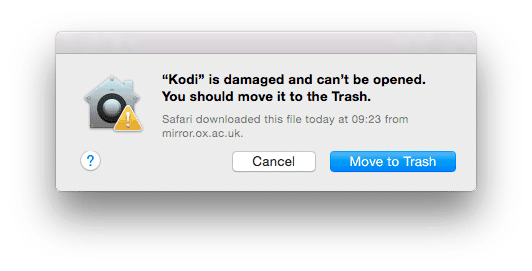 How can i fix damaged app message on macOS Mojave