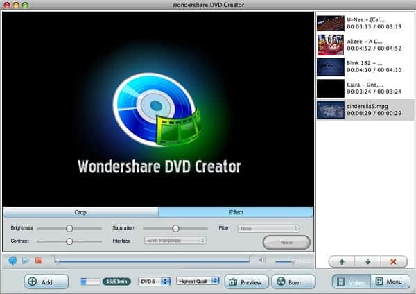 Wondershare DVD Creator Crack Mac