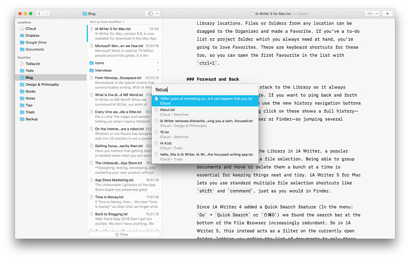 iA Writer Mac
