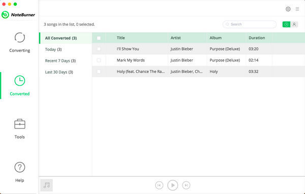 NoteBurner iTunes DRM Audio Converter macOS