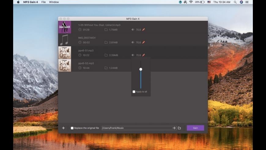 MP3 Gain mac app