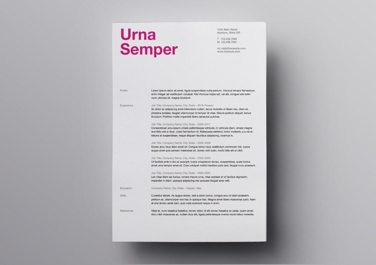 Resume Templates - Design for macOS