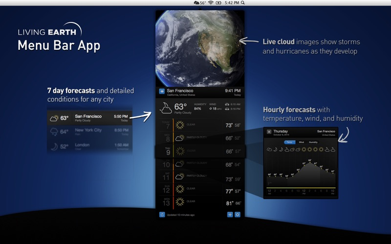 Living Earth - Weather & Clock Mac