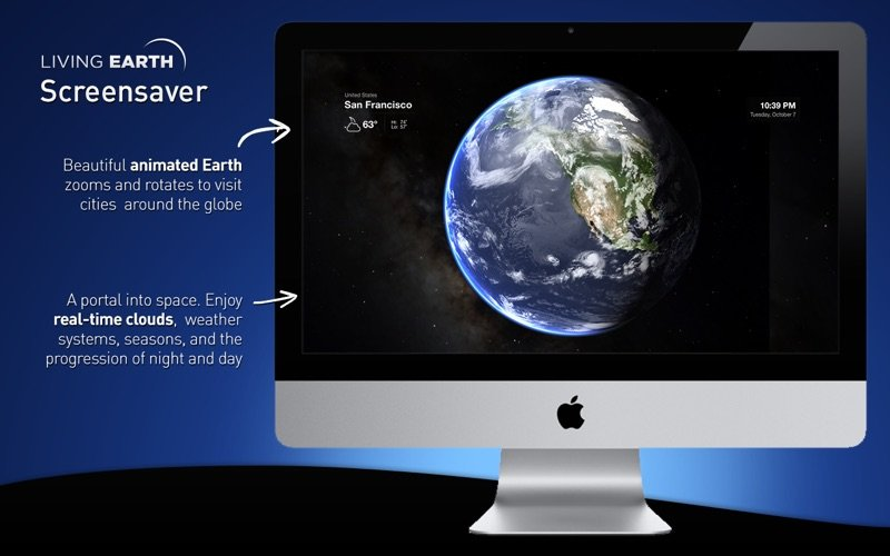 Living Earth - Weather & Clock macOS