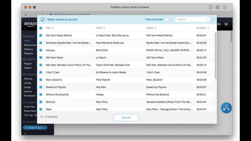 TuneBoto Amazon Music Converter Mac