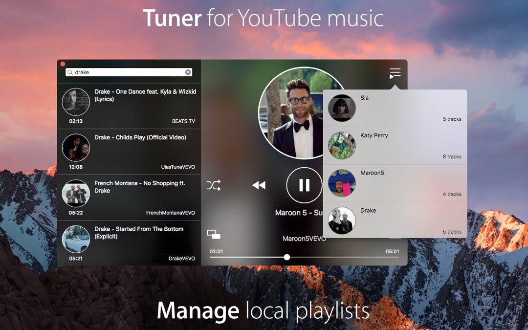 Tuner for YouTube music Mac Download