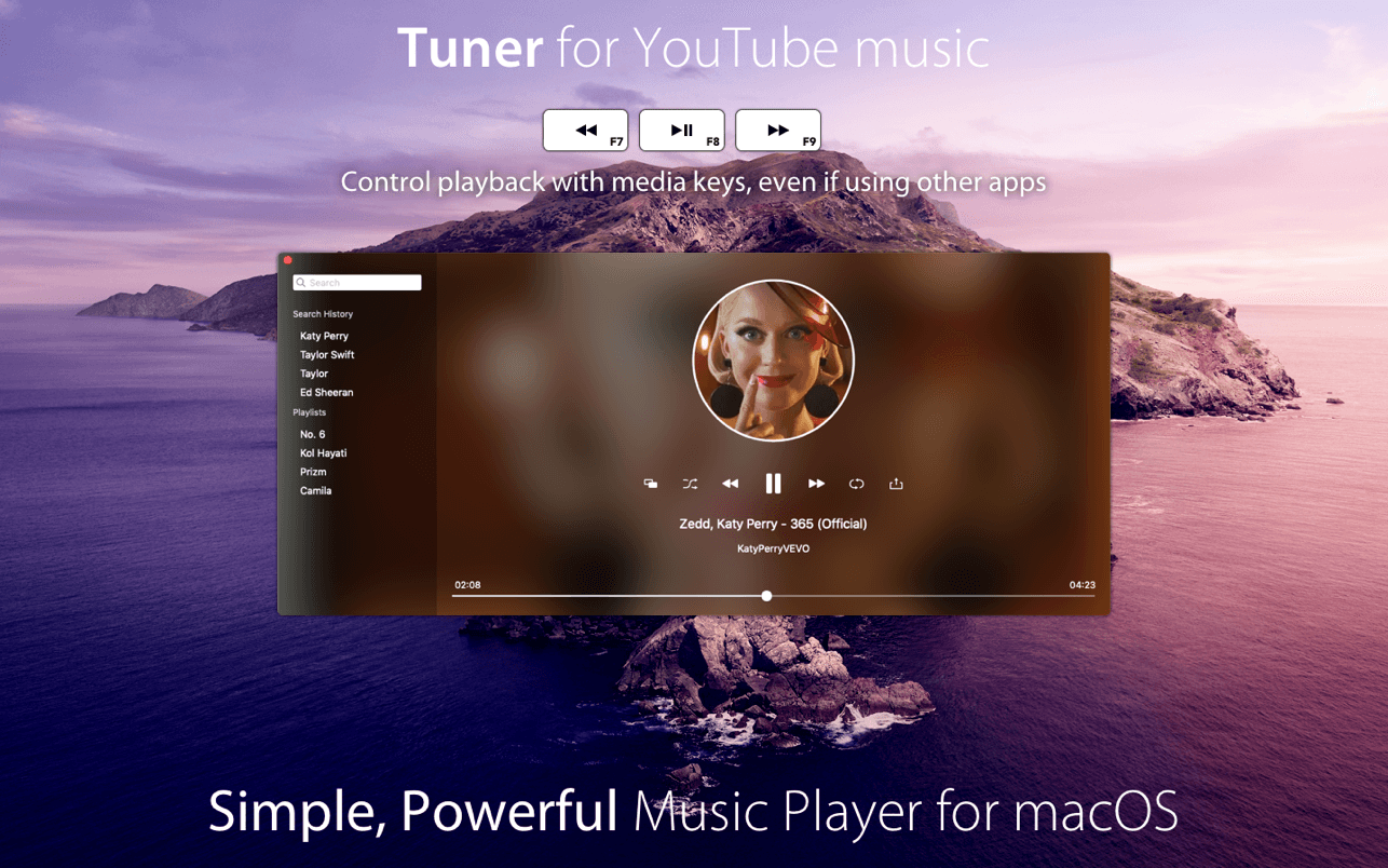 Tuner for YouTube music macOS
