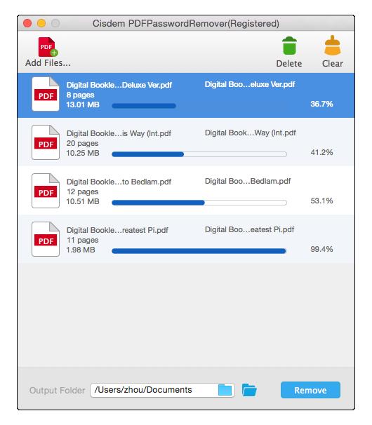 Cisdem PDF Password Remover Mac
