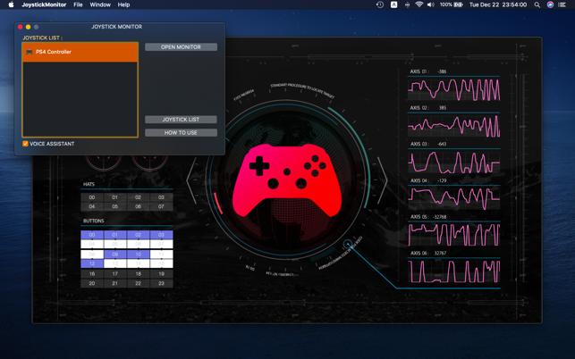 Joystick Monitor macOS