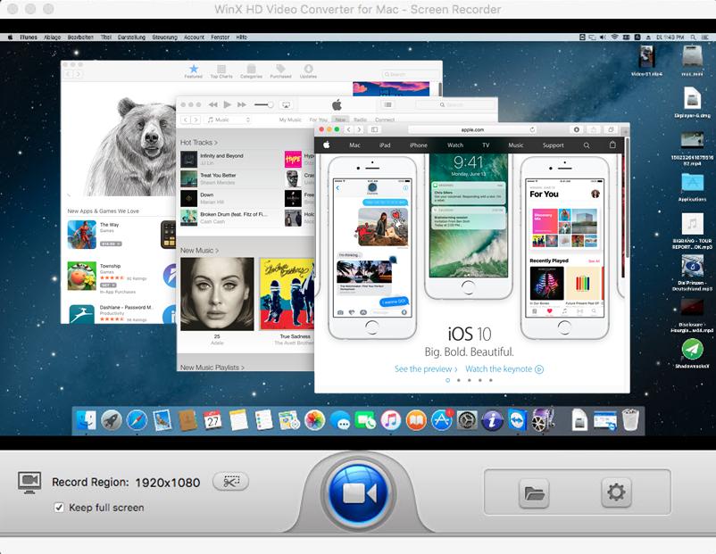 WinX HD Video Converter macOS
