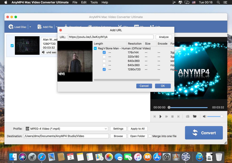 AnyMP4 Mac Video Converter Ultimate macOS