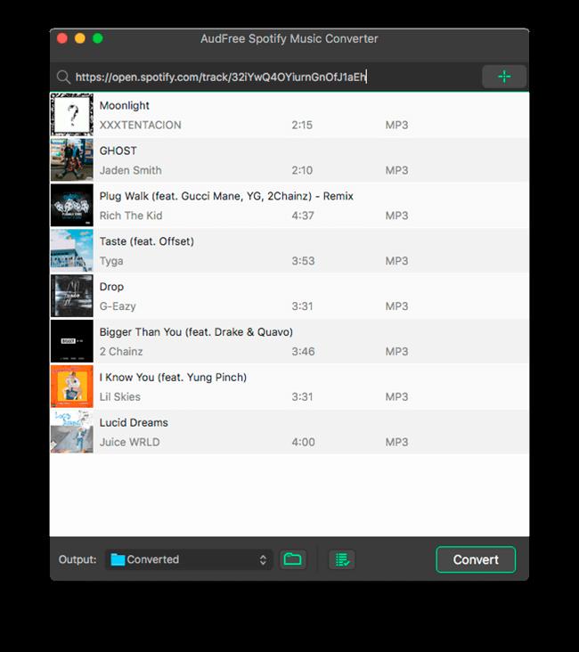 AudFree Spotify Music Converter Mac