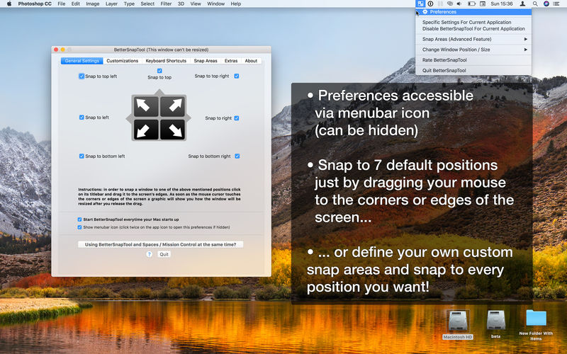 BetterSnapTool Mac