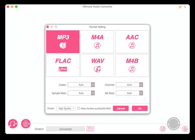 DRmare Audio Converter macOS